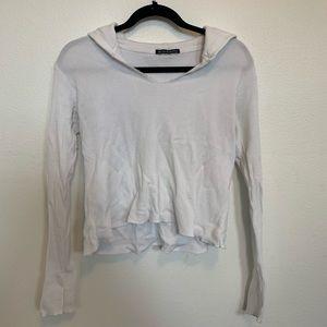 Hooded White Brandy Shirt
